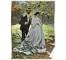 Claude Monet - Bazille And Camille 1865  Poster
