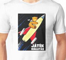 Teddy Bear On A Rocket Vintage Hungarian Toy Fair Poster Unisex T-Shirt