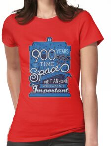900 Years of Time & Space Womens Fitted T-Shirt