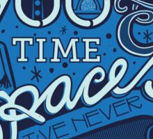 900 Years of Time & Space Sticker