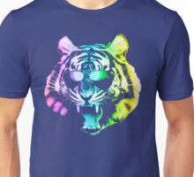 Big Rainbow Tiger with Glasses Unisex T-Shirt