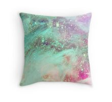 Feathered Space Throw Pillow
