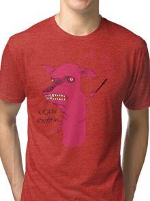 Bad Explanation Art Dog Tri-blend T-Shirt