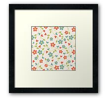 Flowers and Leaves Framed Print