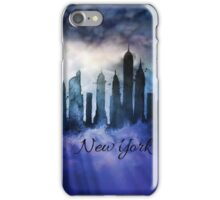 New York City at night iPhone Case/Skin