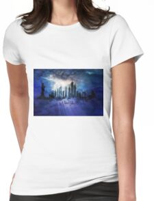 New York City at night Womens Fitted T-Shirt