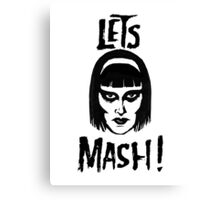 Goth Chic, Let's Mash Canvas Print