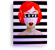 Love is Blind Canvas Print