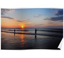 Sunrise fishing.... Poster