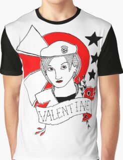 Valentine Girl - Red and Black Graphic T-Shirt