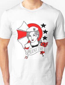 Valentine Girl - Red and Black Unisex T-Shirt