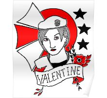 Valentine Girl - Red and Black Poster