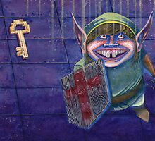 Zelda Link in a Dungeon Nintendo by r4fu