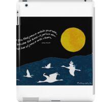 Full Moon with Sandhill Cranes iPad Case/Skin