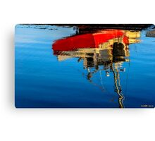 Reflection of a Fishing Boat Canvas Print