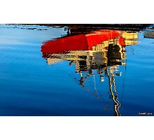 Reflection of a Fishing Boat Photographic Print