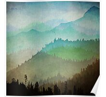 Watercolor Hills Poster