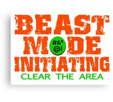 Beast Mode Initiating Canvas Print