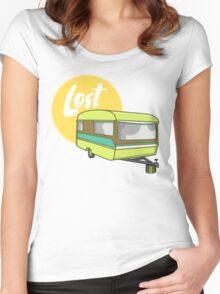 Caravan Lost Women's Fitted Scoop T-Shirt