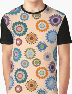 April Flowers on Orange Graphic T-Shirt