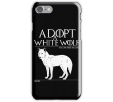 Adopt a white wolf. iPhone Case/Skin