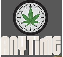 Cool And Funny Weed Time Stoner Clothing Design Photographic Print