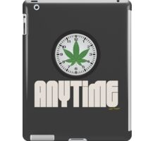 Cool And Funny Weed Time Stoner Clothing Design iPad Case/Skin