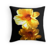 Sunshine Bright Daylilies Throw Pillow