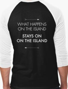 What Happens on the Island, Stays on the Island Men's Baseball ¾ T-Shirt