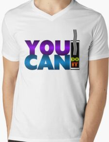 You Can Do It Mens V-Neck T-Shirt