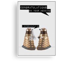 Dalek Wedding Canvas Print