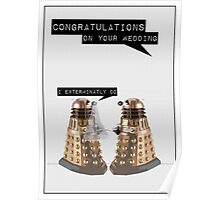 Dalek Wedding Poster