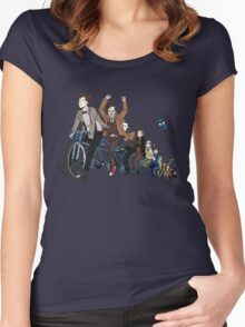 11 Doctors on a bike Women's Fitted Scoop T-Shirt