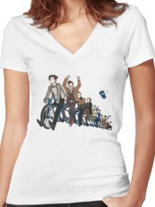 11 Doctors on a bike Women's Fitted V-Neck T-Shirt