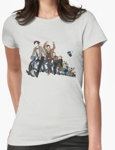 11 Doctors on a bike Womens Fitted T-Shirt