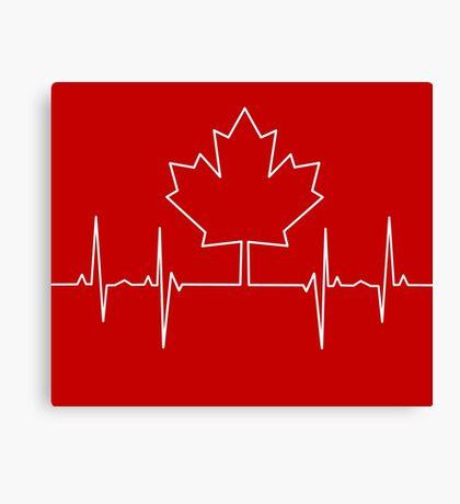 Canada Pulse Canvas Print