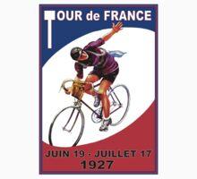 """TOUR DE FRANCE"" Vintage Bicycle Race Advertising Print Kids Tee"