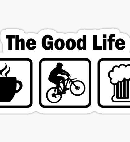 The Good Life Mountain Biking Sticker