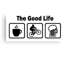 The Good Life Mountain Biking Canvas Print