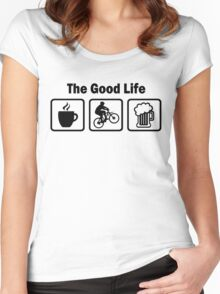The Good Life Mountain Biking Women's Fitted Scoop T-Shirt
