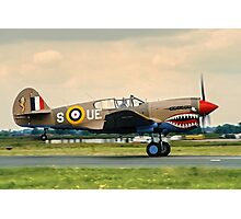 "Curtiss P-40E Kittyhawk Ia N94466 AK933/UE-S ""Sneak Attack"" Photographic Print"