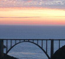 Bixby Bridge Sunset Sticker