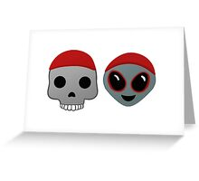 Twenty One Pilots emojis Greeting Card