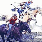 Horse Racing Cowgirls by NaturePrints