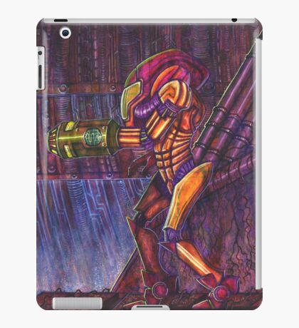 Retro Metroid Samus Arana Nintendo iPad Case/Skin
