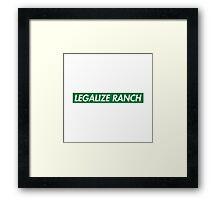 Legalize Ranch - Green - Eric Andre - Supreme font Framed Print