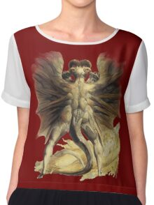 William Blake: The Great Red Dragon Chiffon Top