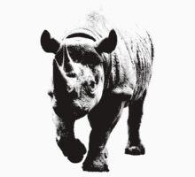 Half Tone Rhinoceros by Matt West