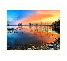 Sunrise Over Lake Texoma Art Print