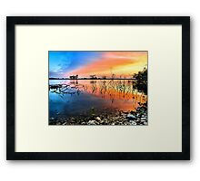Sunrise Over Lake Texoma Framed Print